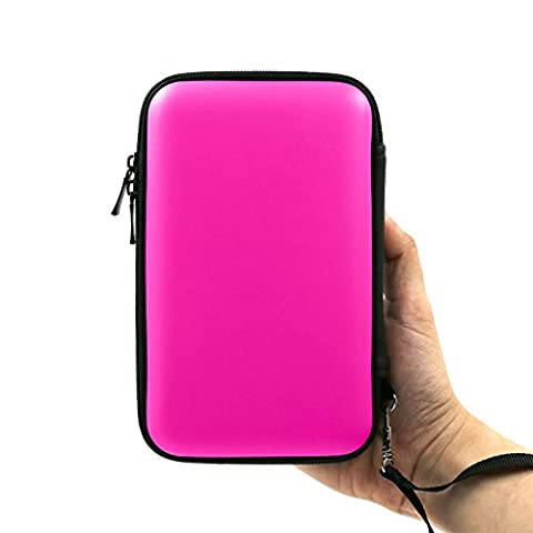 ADVcer 3DS Case, EVA Waterproof Hard Shield Protective Carrying Case with Detachable Hand Wrist Strap for Nintendo New 3DS XL, New 3DS, 3DS, 3DS XL, 3DS LL (Wrist Strap Ds)