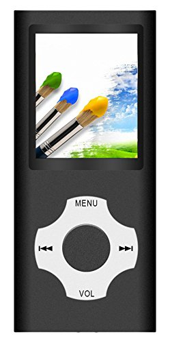 Tomameri JMG121 MP3 / MP4 Player With Rhombic Button, Portable Music And Video Player, Including A 16 GB Micro SD Card And Maximum Support 32GB, Black
