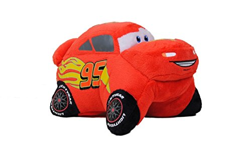Pillow Pets, Pee Wees, Disney/Pixar Cars 2 Movie, Lightning McQueen, 11 Inches (Super Car Soft Race)