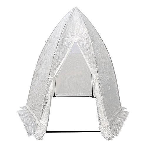 Abba Patio Portable 7.8'D x 6.7'W Hexagonal Walk in Greenhouse Fully Enclosed Lawn and Garden Outdoor Tent with Window, White
