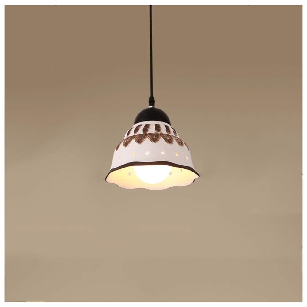 ペンダントライト シンプルなペンダントライト現代ディスクシャンデリア新しいセラミック天井照明バーカフェ吊りランプ器具 B07TBR99HM