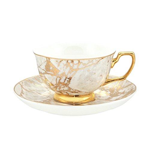 Cristina Re Teacup & Saucer White/Gold Celestite ()
