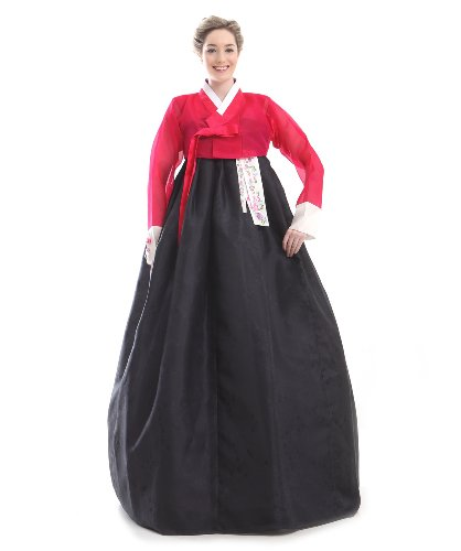 Korea Kleid Handgemachter Dress Hanbok Elegant Seide Kleid Umbund Schwarz Tracht Neu Lang Design 100 Mode Party Fashion EwwIBqH