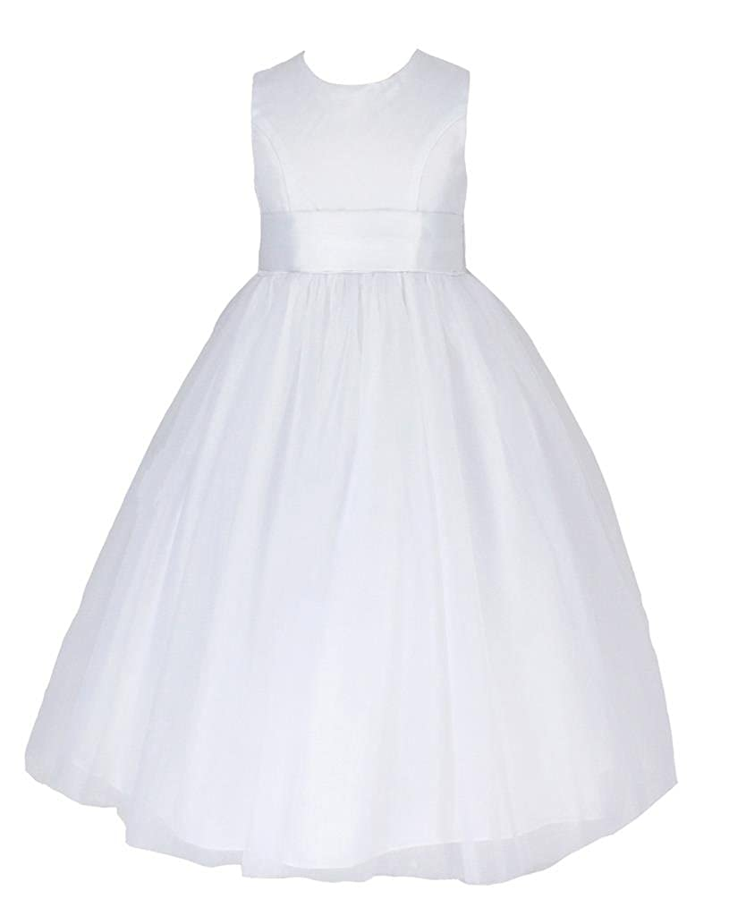 go2victoria New Satin Party Bridesmaids/Flower Girl Dress 6 Months to 12 Years