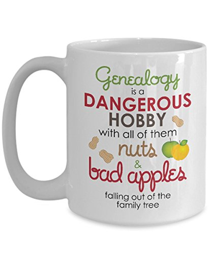 Funny Genealogy Mug - Family Is Nuts - White Ceramic Coffee Cup
