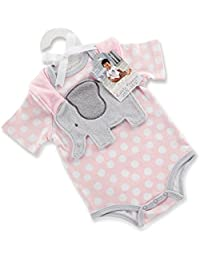 Little Peanut Elephant Layette and Bib Gift Set, Pink/Grey/White