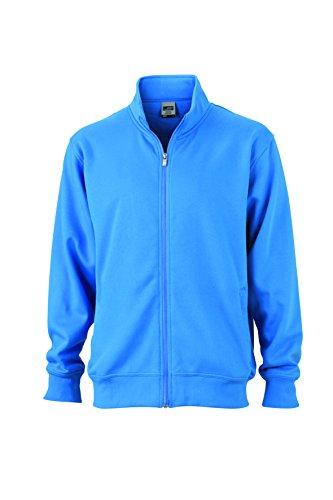 Aqua Sweat Lampo Con Giacca Chiusura E Jacket Coreana Alla In Workwear Colletto Felpa pxq76gT