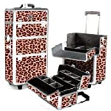 SHANY Leopard Professional Rolling Makeup Case, Light Weight, 12 Pounds