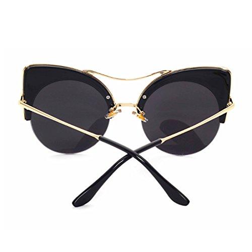 Medio Yefree gato Gafas Gafas sol marco de ojo de mujeres gafas y Verde Rojo retro hombres gqHpxgPwr