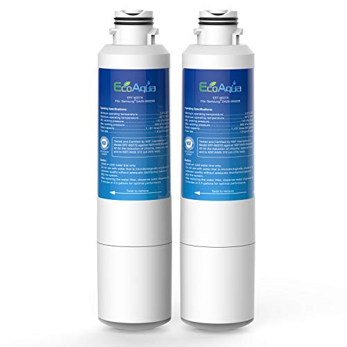 EcoAqua EFF-6027A Replacement Filter, Compatible with Samsung DA29-00020B, DA29-00020A, HAF-CIN/EXP, 46-9101 Refrigerator Water Filter, 2 Pack