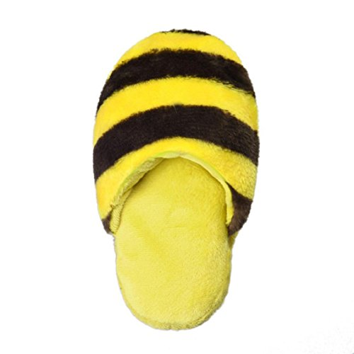 Price comparison product image Naladoo Dog Toy Pet Puppy Chew Squeaky squeaker Sound Plush Slipper Shape New (Yellow+Brown)