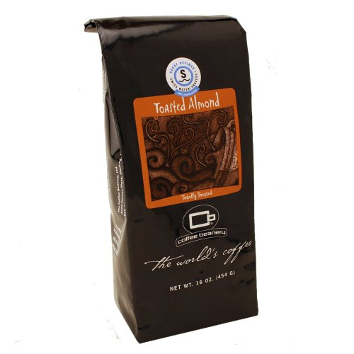 Coffee Flavored Decaf Toasted Almond - Coffee Beanery Toasted Almond Flavored Coffee SWP Decaf 16 oz. (Automatic Drip)