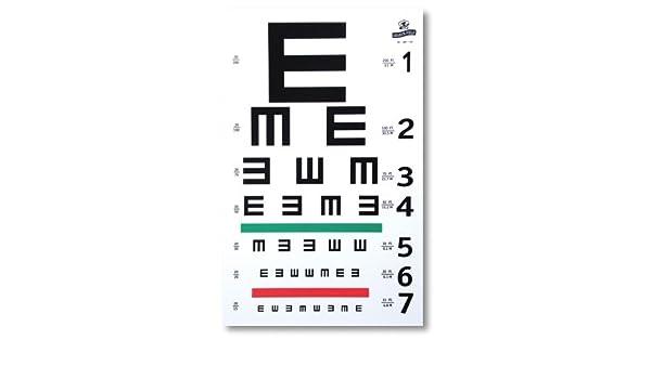 Amazon Graham Field 1262 Illiterate E Eye Test Chart