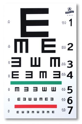 Graham-Field 1262 Illiterate E Eye Test Chart