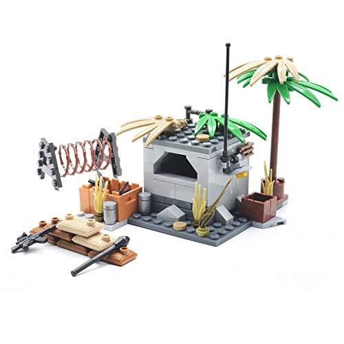 koolfigure Custom Mini WWII Building Bricks Set of German Bunker Military Army Build Toy 165PCS ()