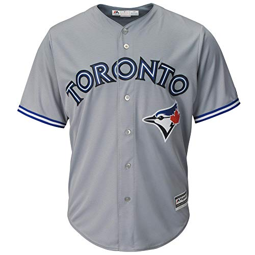 (Outerstuff Toronto Blue Jays Blank Gray Youth Cool Base Road Replica Jersey (X-Large 18/20) )