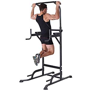 K KiNGKANG Power Tower Adjustable Height Multi-Function Home Strength Training Fitness Workout Station, T055