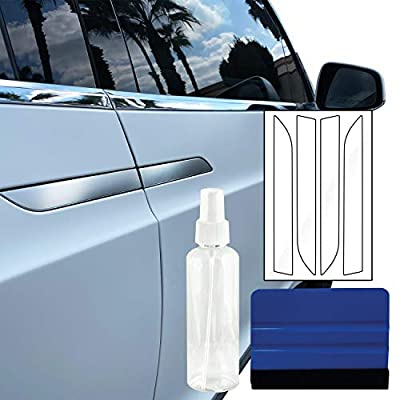 Dyfence Door Handle PPF Protection Wrap DIY Kit - Set of 4 Door Handle Films - for Tesla Model X (Clear Gloss): Automotive