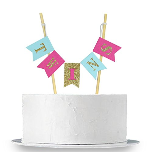 INNORU Handmade Twins Cake Topper Baby Shower Cake Toppers