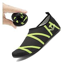 EQUICK Water Shoes Lightweight Aqua Socks Barefoot Anti slip Sole Beach Pool Surf Exercise Women Men