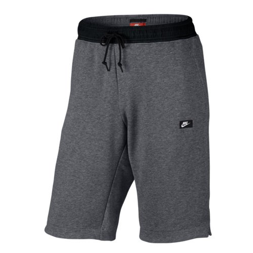 Nike mens M NSW MODERN SHORT FT 805152-091_L - CARBON HEATHER/BLACK