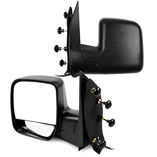 SCITOO Mirror fit 2003-2013 Ford E-150 E-250 2004-2013 Ford E-350 E-450 Super Duty Econoline Van with Power Heated Manual Folding, A Pair of Driver Side and Passenger ()