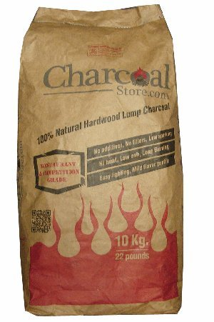 CharcoalStore 100% Hardwood Lump Charcoal 10kg (22 pounds) by CharcoalStore