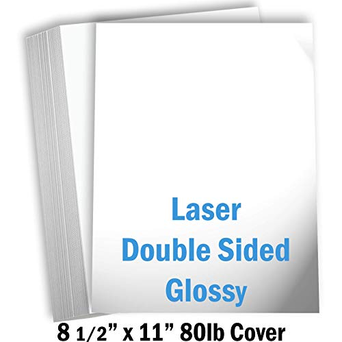 (Hamilco White Glossy Cardstock Paper - 8 1/2 x 11