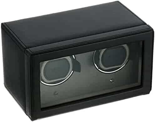 Wolf Unisex 461203 Wolf Cub Double Black Analog Display Watch Winder with Cover