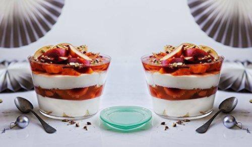Set Of 6 Crystal Clear Glass 6 Ounce Dessert Ice Cream/Fr...