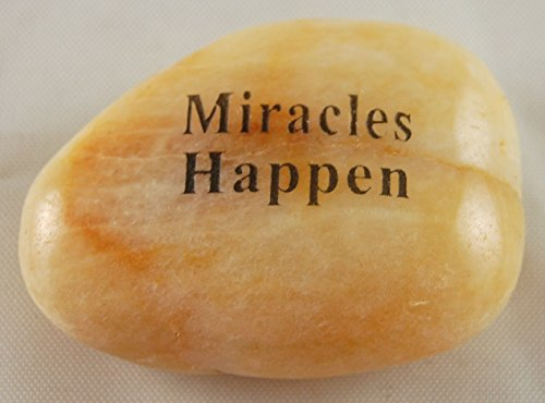 Miracles Happen Engraved River Rock - SOLD INDIVIDUALLY