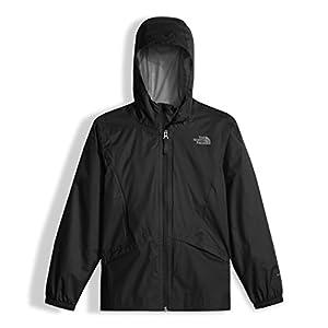 The North Face Girl's Zipline Rain Jacket - TNF Black - XL