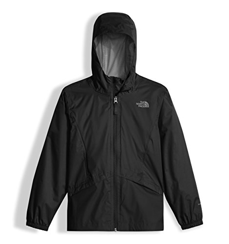 The North Face Girl's Zipline Rain Jacket - TNF Black - S by The North Face