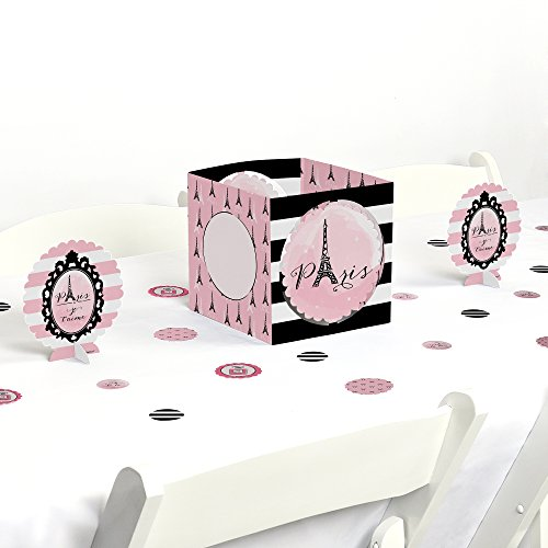 Paris, Ooh La La - Paris Themed Baby Shower or Birthday Party Centerpiece & Table Decoration Kit by Big Dot of Happiness