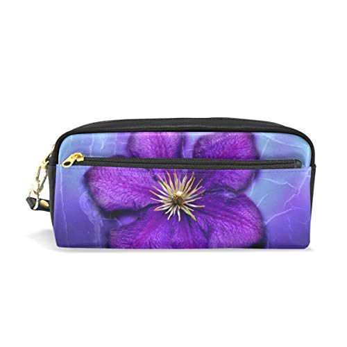 - Pen Case Purple Flowers Best Pencil Pouch Makeup Cosmetic Travel School Bag