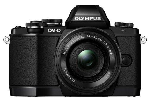 オリンパス OMD EM10 ブラック レンズキット M.ZUIKO DIGITAL ED 1442mm F3.55.6 EZ
