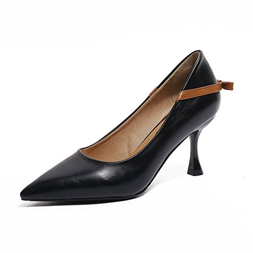 nero scarpe Tie profonda Bow della unico di confortevole 36 poco punto e il Wild sottile bocca moda FZX5qwF