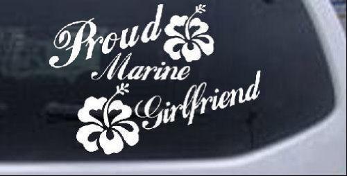 本物品質の 8 in 8 x 11.2 inホワイト – - Proud Marineガールフレンドハイビスカス花Military車ウィンドウ壁ノートパソコンデカールステッカー 11.2 - B0068ODTAA, ケルエ:1a0d2f55 --- a0267596.xsph.ru