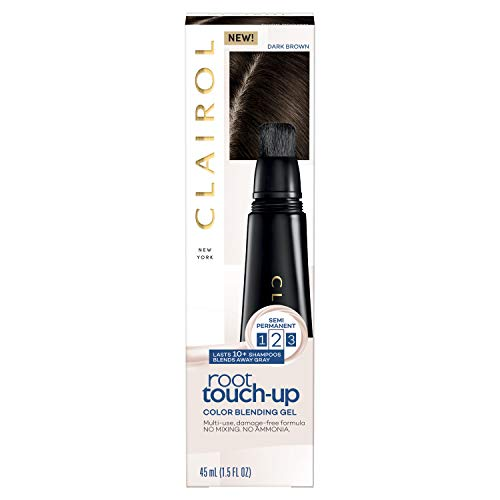 Clairol Root Touch-up, Color Blend Gel 4 Dark Brown, -