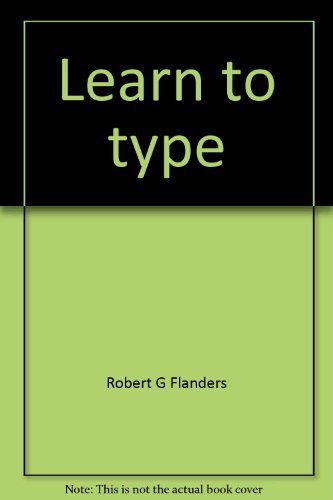 Learn to type: An easy touch typing method for all ages