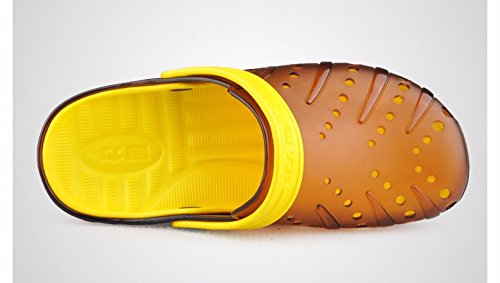 Autunno Il pattino dei nuovi uomini calza i pattini casuali Scarpa respirabile della spiaggia Grande testa Scarpa antisdrucciolevole due sandali, arancione, UK = 7, EU = 40 2/3