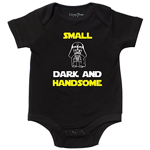 for Star Wars Fan, Funny Boy Onesie, The Force, Black, 6-12 mo]()