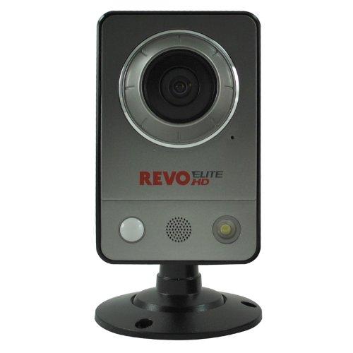 REVO America REHCUW-1 Elite HD Wireless/Wired Indoor IP Cube Camera (Grey) ()