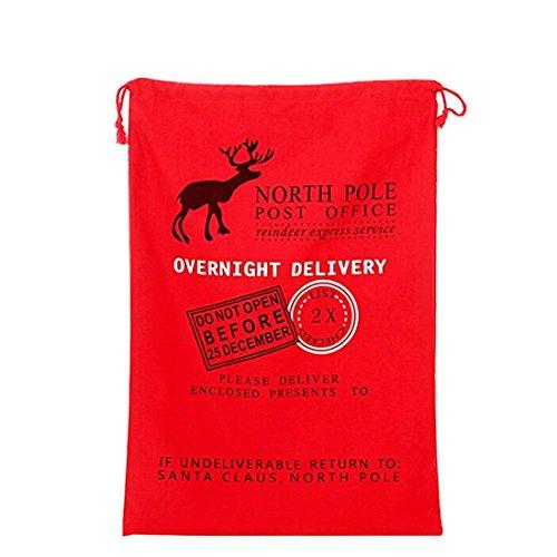 professional santa bag christmas bag vanorig cute christmas gift bag santa sack pack of 1 red hk 05