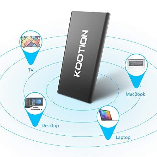 KOOTION 60GB Portable External SSD USB 3.0 High Speed Read & Write up to 400MB/s&300MB/s External Storage Ultra-Slim Solid State Drive for PC, Desktop, Laptop, MacBook by KOOTION (Image #4)