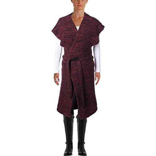 ALICE+OLIVIA Womens Knit Kimono Wrap AUGUSTINA Sweater Coat Merlot 230104F (Medium) by alice + olivia