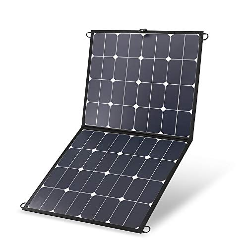 Best Renogy 100W 12V Portable Eclipse Solar Panel Lightweight Foldable Suitcase Without Controller for Jackery/SUAOKI/Rockpals/Goal Zero/Webetop Power Generator