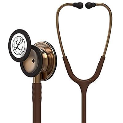 3M Littmann Classic III Monitoring Stethoscope, Copper-Finish Chestpiece, Chocolate Tube, 27 inch, 5809 (Renewed)