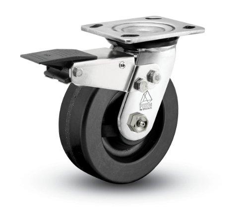 160 lbs Capacity Zinc Finish Expanding Adapter Stem Shepherd Regent Series 5 Diameter Precision Bearing Monotech Wheel Swivel Caster with Tread Brake Fits 1-1//8-1-3//16 Round Tube Diameter Fits 1-1//8-1-3//16 Round Tube Diameter 103390M