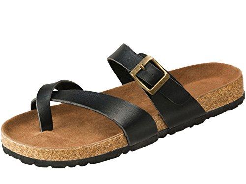 SK Studio - Zapatillas de estar por casa para hombre negro